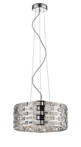 Impex CFH1811/06/CH Lola 6 Light Crystal Ceiling Pendant Chrome