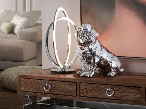 Bulldog Small Decorative Figure Chrome
