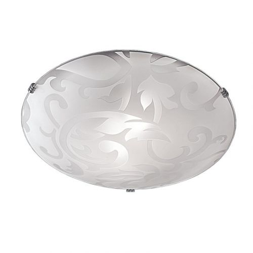 Flush Ceiling Fitting Opal Glass Shade Low Energy Model Available LEK60039