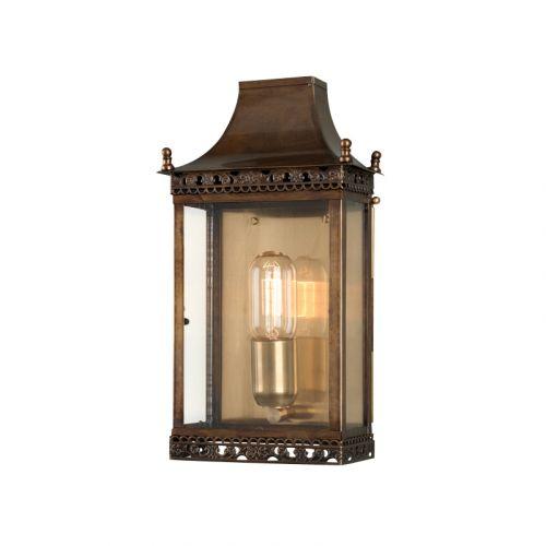 Elstead Solid Brass Outdoor Wall Lantern Regents Park