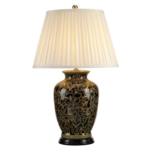 Elstead MORRIS/TL LARGE Black Gold Table Lamp