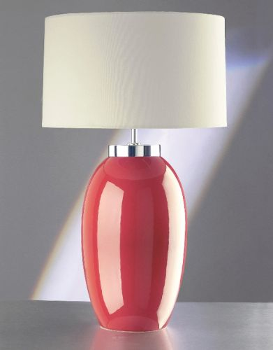 Elstead Victor Large Red Table Lamp ELS/VICTOR LRG/TL RD