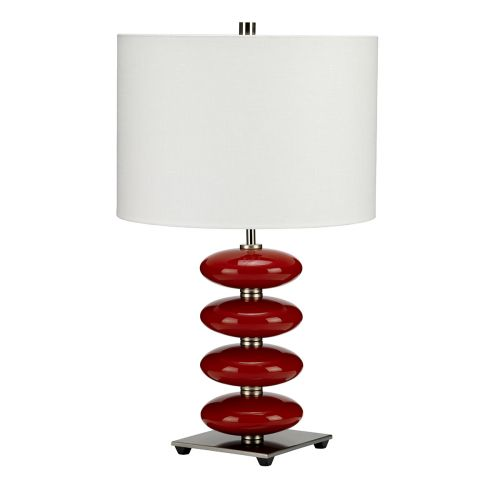 Elstead Onyx Red Table Lamp With Shade ONYX/TL RED