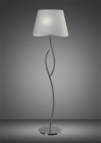 Mantra Ninette Polished Chrome White Shade Floor Lamp M1907