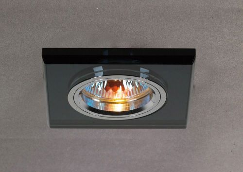 Diyas IL30817BL Crystal Recessed Downlight Shallow Square Rim Only Black
