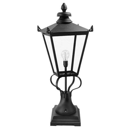 Elstead Wilmslow 1 Light Black Pedestal Lantern WSLN1/BLK