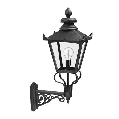Elstead Grampian 1 Light Black Wall Lantern GB1/BLK