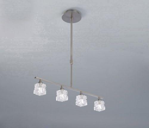 Mantra Ice 4 Light Satin Nickel Ceiling Fitting M1857