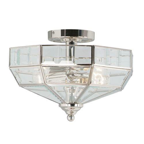 Elstead OLD-PARK-PN Old Park 2Lt Polished Nickel Ceiling Light