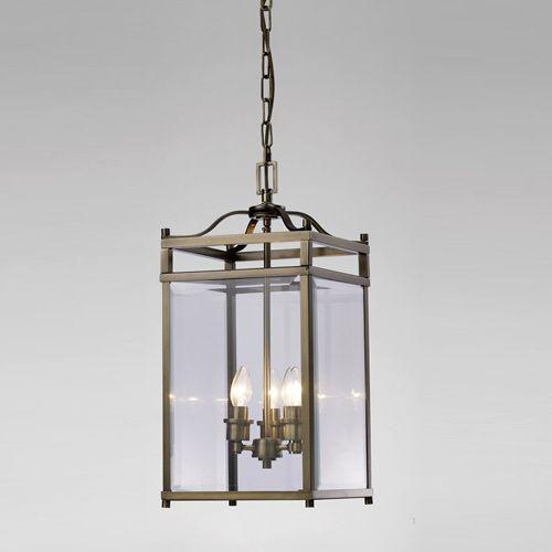 Diyas Aston  3 Light Pendant Antique Brass/Glass IL31112