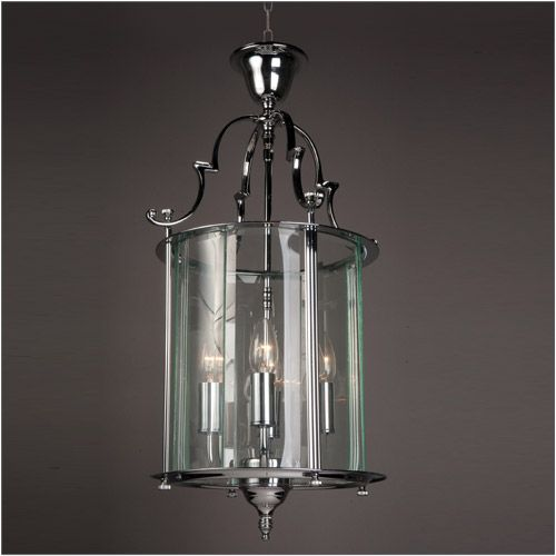 Impex LG07000/11/CH Colchester 4 Light Chrome Indoor Lantern