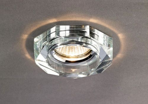 Diyas IL30823CH Crystal Downlight Recessed Deep Hexagonal Rim Only Clear