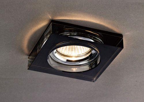 Diyas IL30822BL Crystal Recessed Downlight Deep Square Rim Only Black