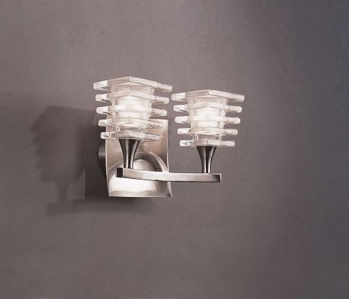 Mantra Keops 2 Light Switched Wall Light Satin Nickel M0029/s