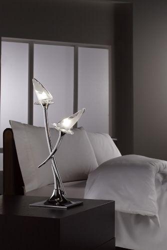 Mantra Flavia Table Lamp 2 Light Polished Chrome M0310