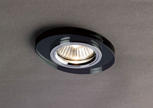 Diyas IL30808BL Crystal Recessed Downlight Oval Rim Only Black