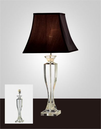 Diyas IL11027 Carmela Crystal Table Lamp Without Shade 1 Light Silver Finish