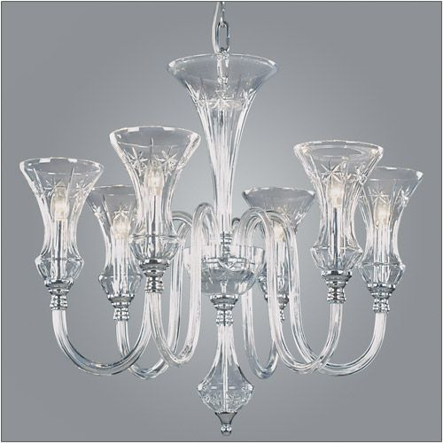 Impex Stara Lead Crystal 6 Light Chandelier CB05444/06