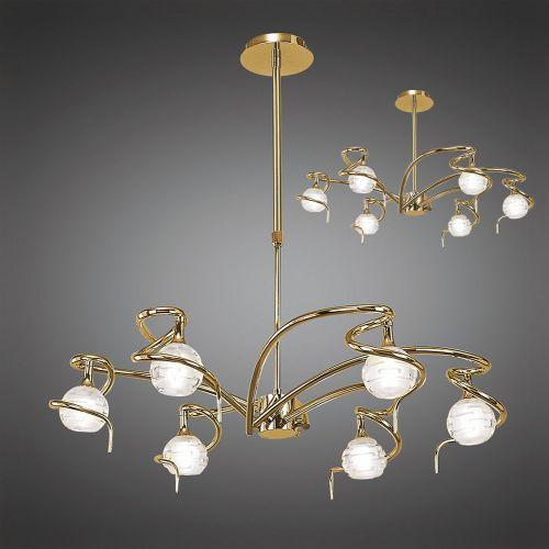 Mantra Dali Polished Brass 6 Light Pendant M0079PB