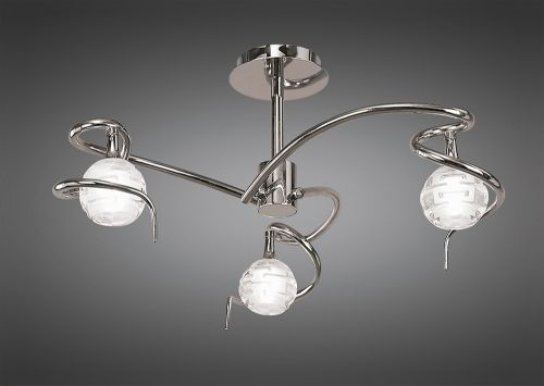 Mantra Dali 3 Light Chrome Ceiling Light M0088