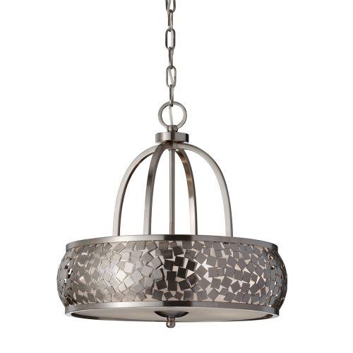Feiss Zara FE/ZARA/4 Zara 4Lt Brushed Steel Ceiling Pendant
