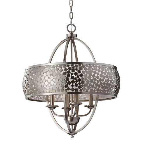 Feiss FE/ZARA4-L Zara 4Lt Satin Nickel Ceiling Pendant