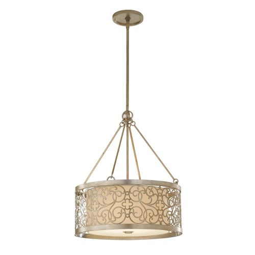 Feiss Arabesque Pendant With Silver Leaf Patina FE/ARABESQUE4