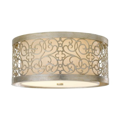 Feiss Arabesque Flush Fitting With Silver Leaf Patina FE/ARABESQUE/F
