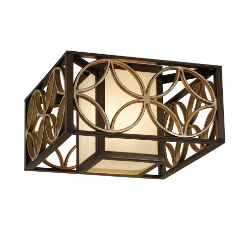 Feiss FE/REMY/F Remy 2Lt Heritage Bronze and Gold Ceiling Flush