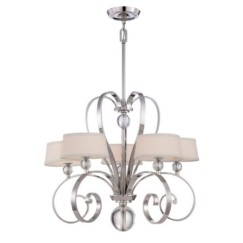 Quoizel Madison Manor 5 Light Imperial Silver Ceiling Fitting QZ/MADISONM5 IS