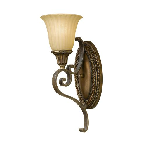 Feiss FE/KELHAM HALL1 Kelham Hall 1Lt Bronze and Gold Wall Light