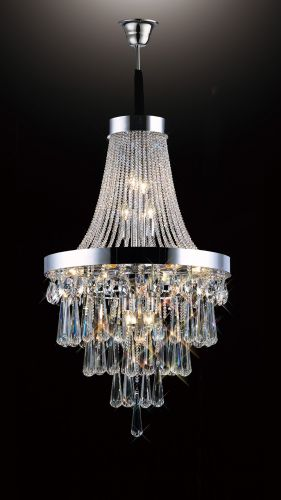 Diyas Sophia 13 Light Pendant  Polished Chrome/Crystal IL31430