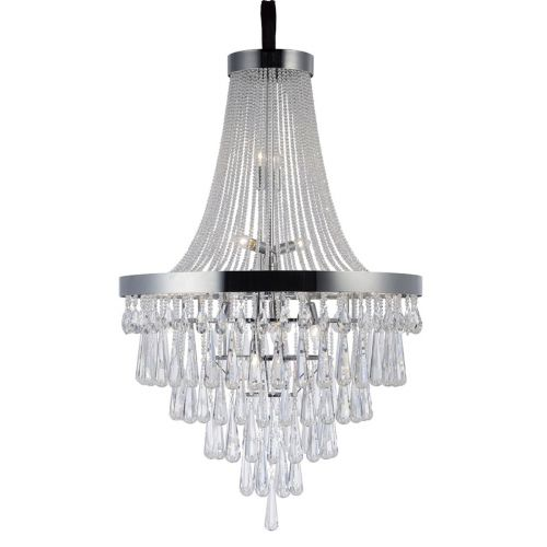 Diyas Sophia 17 Light Pendant Polished Chrome/Crystal IL31431