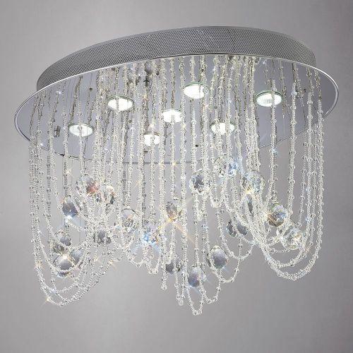 Diyas  Camilla 7 Light Oval Ceiling  Polished Chrome/Crystal IL31391