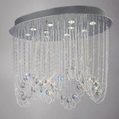 Diyas  Camilla 10 Light Oval Ceiling  Polished Chrome/Crystal IL31392