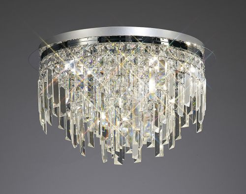Diyas  Maddison 6 Light Ceiling Round Polished Chrome/Crystal IL30251