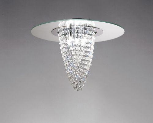 Diyas IL31460 Oberon Ceiling Fitting 5 Light Polished Chrome Mirror Crystal