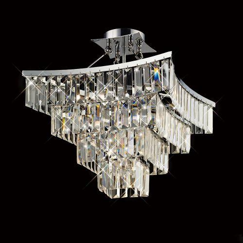 Diyas Gianni 5 Light Semi Ceiling  Polished Chrome/Crystal IL30642
