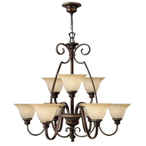 Hinkley Cello 9 Light Bronze Chandelier HK/CELLO9
