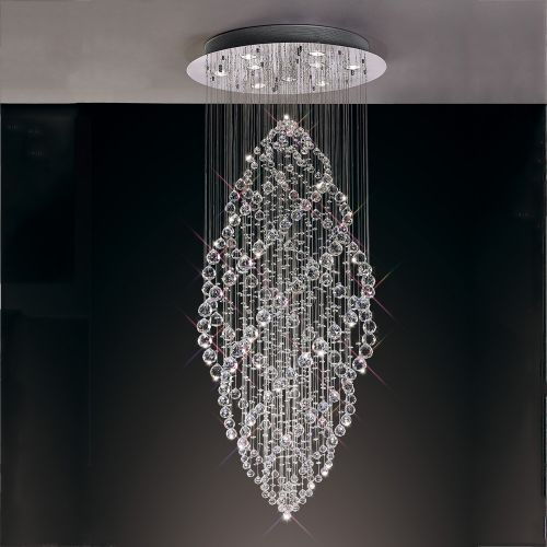 Diyas  Colorado 9 Light Oval Pendant  Polished Chrome/Crystal IL30784