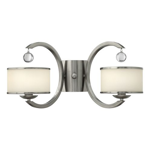 Hinkley Monaco 2 Light Wall Fitting HK/MONACO2 Brushed Nickel
