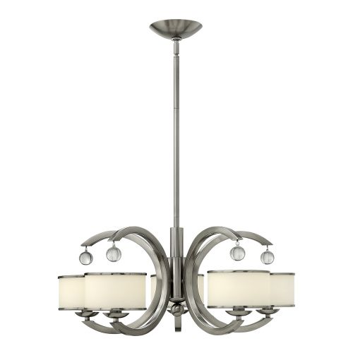 Hinkley Monaco 5 Light Chandelier HK/MONACO5 Brushed Nickel