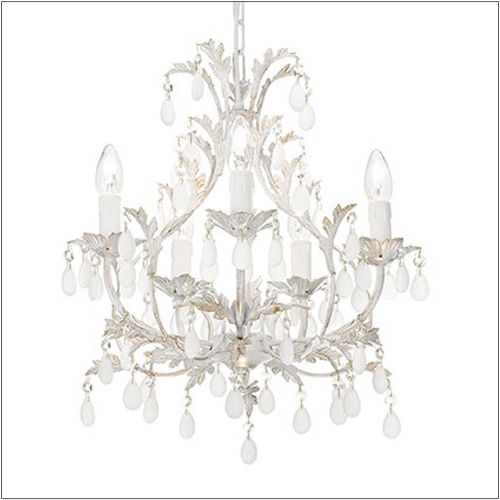 Ideal Lux Cascina 5 Light Chandelier Antique White SP5 100272