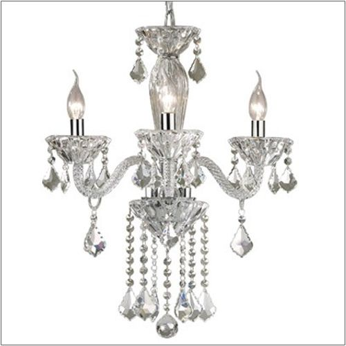 Ideal Lux Tiepolo Glass Frame 3 Light Chandelier SP3 034706