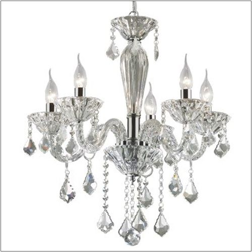 Ideal Lux Tiepolo 5 Lighting Hand Blown Glass Chandelier SP5 034713