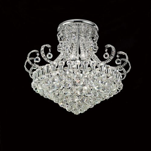 Diyas Pearl 12 Light Round Ceiling   Polished Chrome/Crystal IL30027