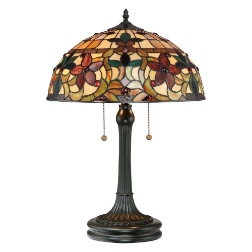 Quoizel QZ/KAMI/TL Tiffany Kami 2Lt Vintage Bronze Table Lamp