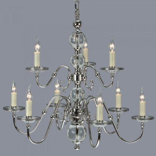 Interiors 1900 Tilburg Nickel 9 Light Chandelier CA20P9N