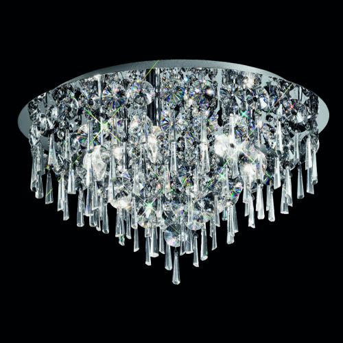 Flush Ceiling Light Fitting Crystal Glass Droplets Marsalis LEK60050