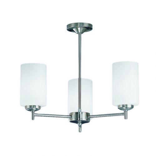 Multi-Arm 3 Light Ceiling Fitting Matt Nickel Nona LEK60169